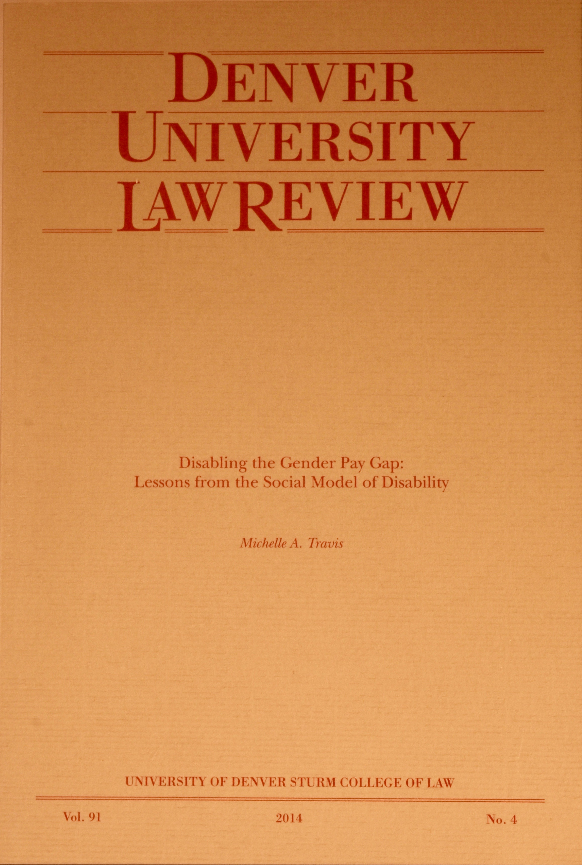 Denver University Law Review
