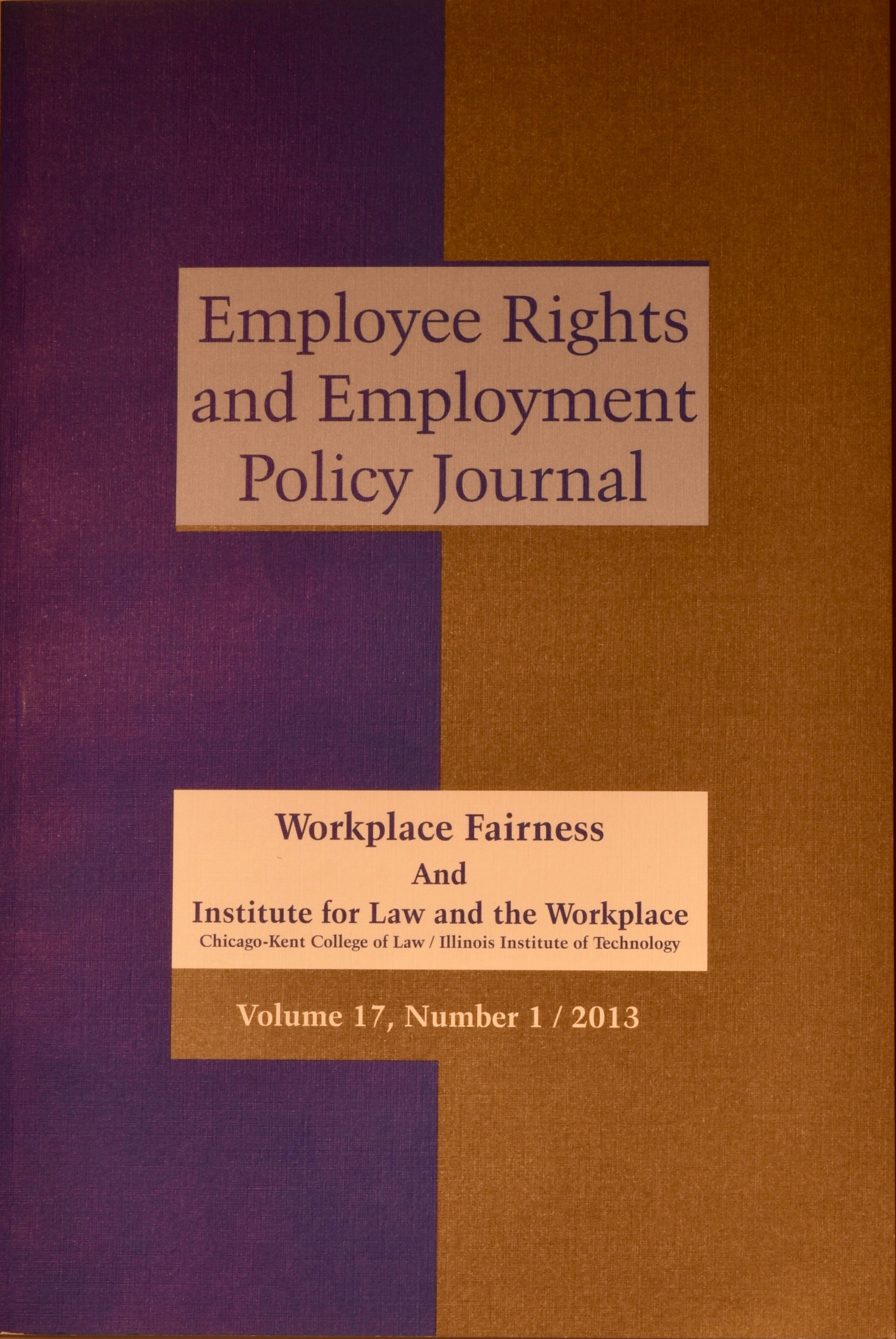Employee Rights and Employment Policy Journal